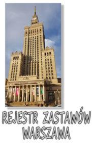 Warszawa Rejestr Zastawów